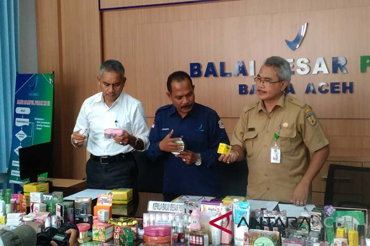 BBPOM Banda Aceh sita ratusan kosmetika ilegal