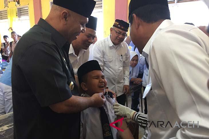 Aceh Tengah kampanye imunisasi measles rubella