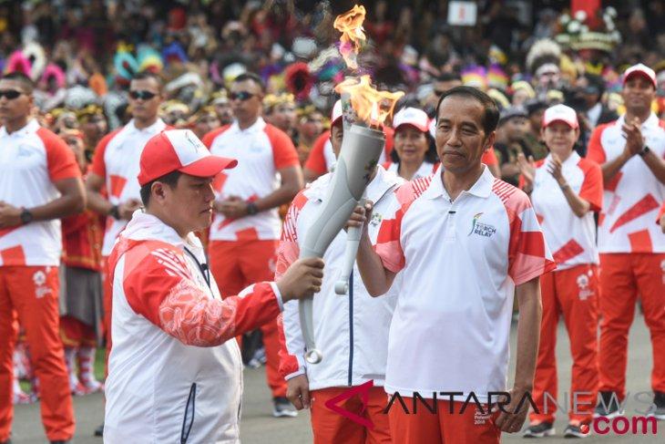 Presiden Bawa Obor Asian Games