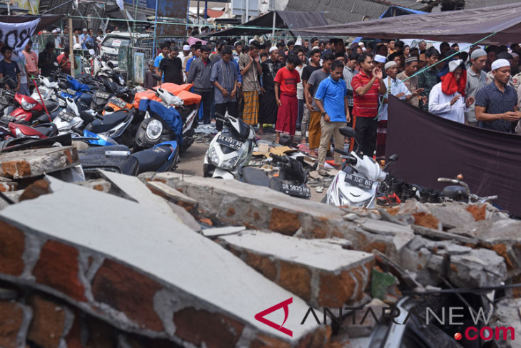 BNPB: 75 persen permukiman Lombok Utara hancur