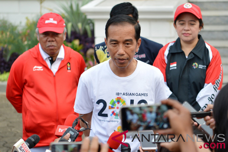 President sees off Indonesian contingent to Asian Games