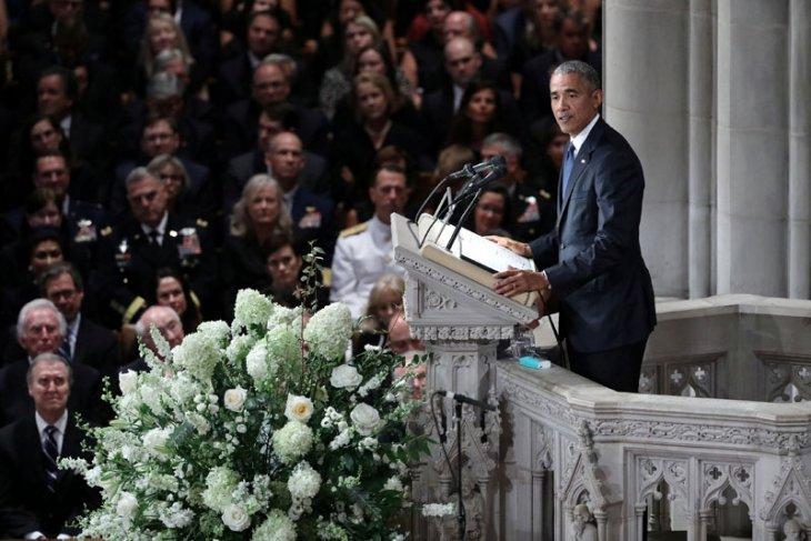 Obama, Bush kecam Trump dalam penghormatan kepada McCain