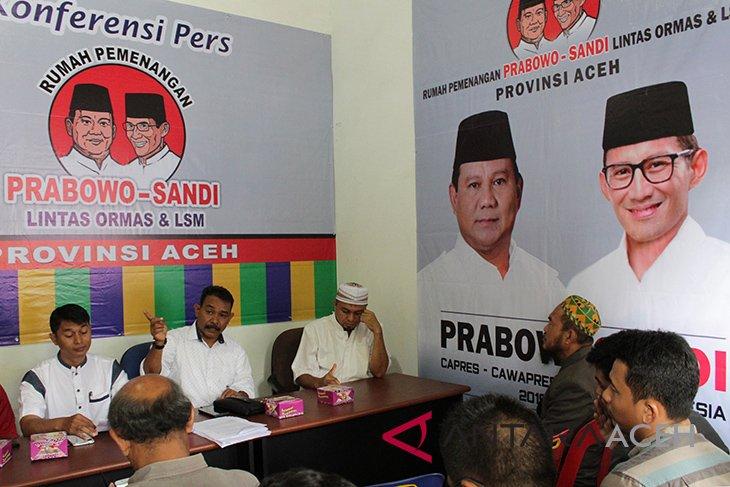 Relawan diminta rapatkan barisan menangkan Prabowo-Sandi di Aceh