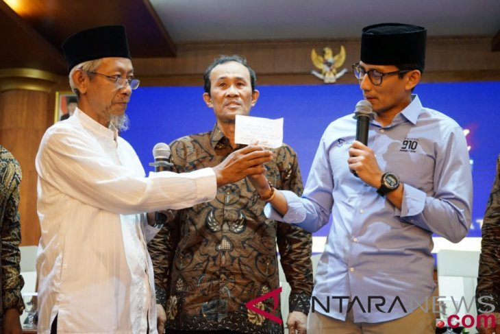 Seorang warga sumbang dana kampanye buat Prabowo-Sandiaga