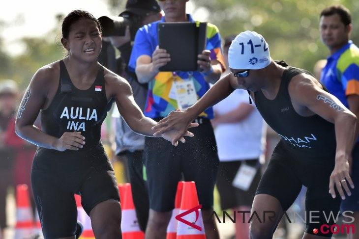 Aasian Games (triathlon) - Indonesian triathlon athletes learn a lot from 2018 Assian Games