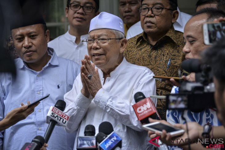 Ma`ruf Amin to leave MUI if elected as vice president