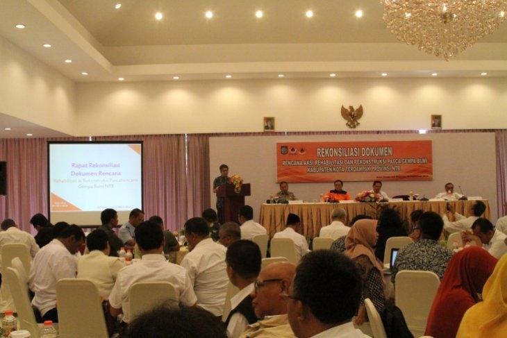 Kementerian-lembaga dan pemda rekonsiliasi dokumen rehabilitasi Lombok