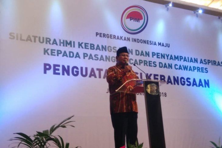 Prabowo hadiri Silaturahmi Kebangsaan Pergerakan Indonesia Maju