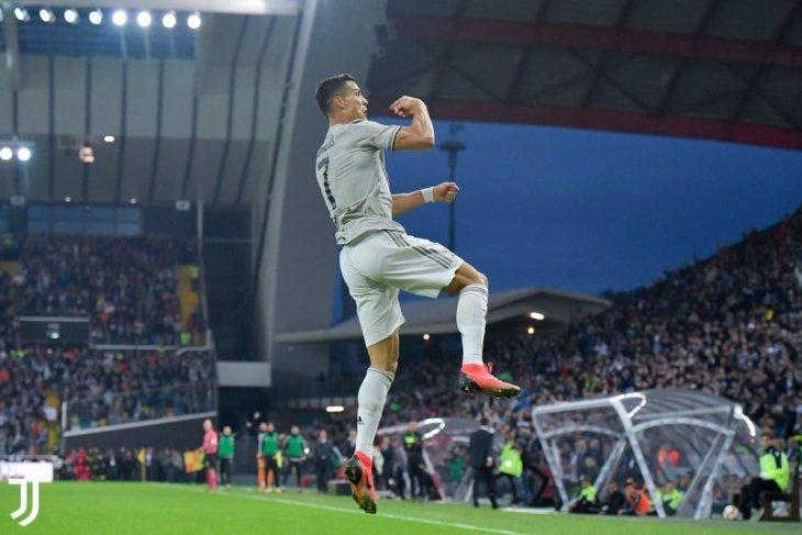 Cristiano Ronaldo tendang penalti, Juventus menang