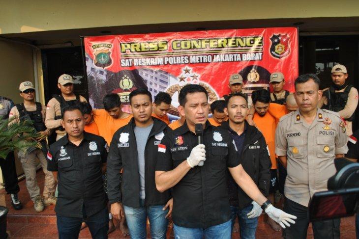 Tujuh pencuri motor di Jakarta Barat mengonsumsi narkoba
