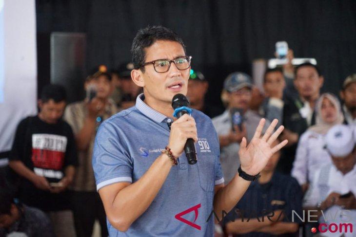 "Sandiaga sebut kampanye zaman ""now"" berikan solusi ekonomi"