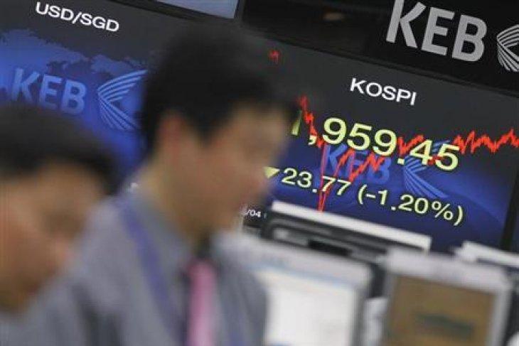 Bursa Seoul terperosok 4,44 persen