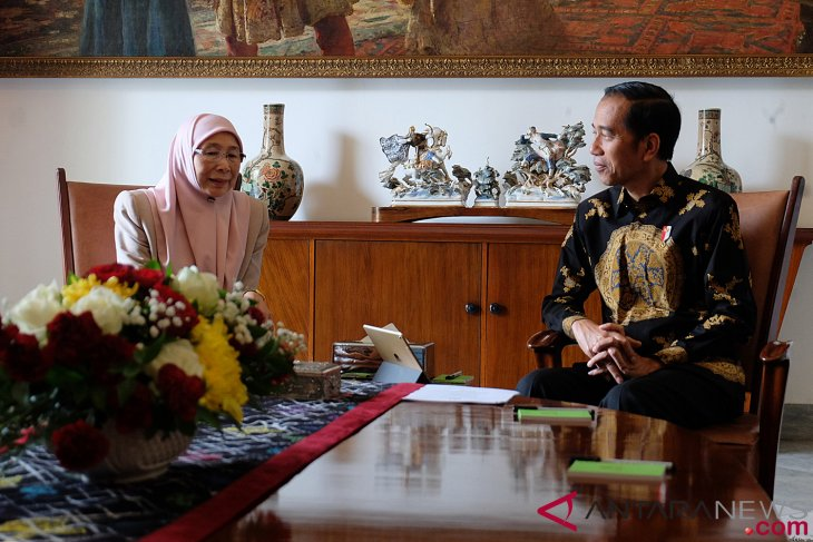 Malaysia`s Deputy Prime Minister Wan Azizah meets President Jokowi