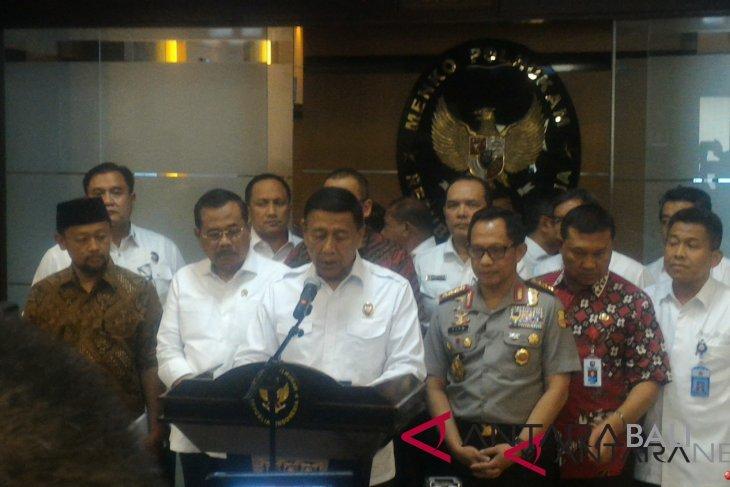 Wiranto gelar rakorsus bahas pembakaran Bendera Tauhid
