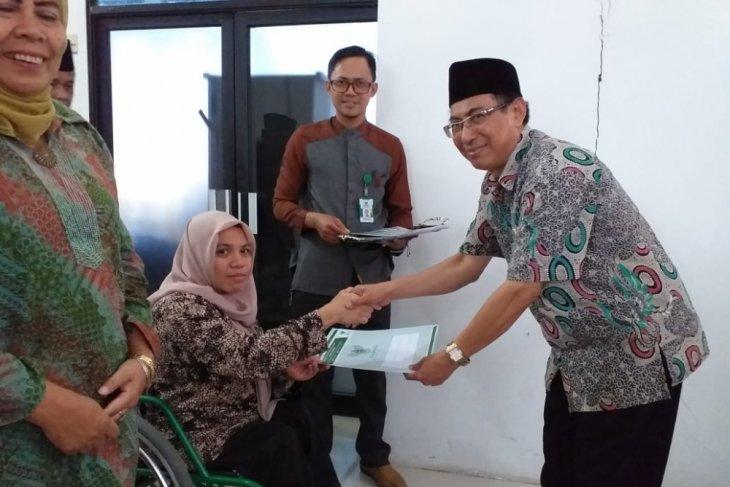 Baznas bantu modal usaha penyandang disabilitas