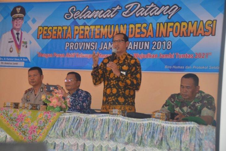 Humas Pemprov Jambi gelar pertemuan Desa Informasi