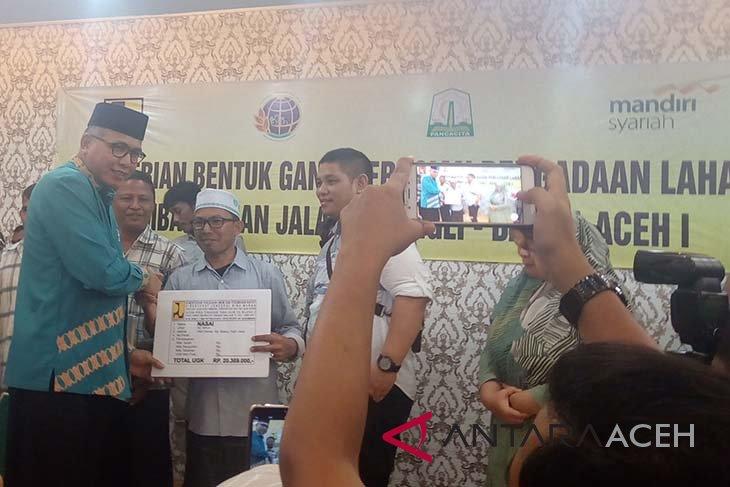 Pembebasan lahan tol Banda Aceh-Sigli capai 40 Km