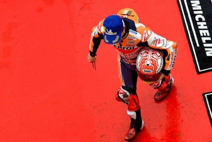 Marquez dijatuhi sanksi penurunan enam posisi di GP Malaysia