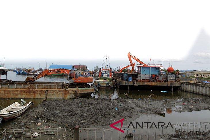 Pengerukan pelabuhan perikanan Samudera