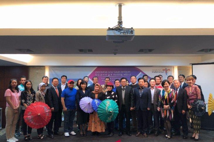 Kementerian Pariwisata menggelar Wonderful Indonesia Sales Mission Golf 2018 di Korea Selatan. (Istimewa)
