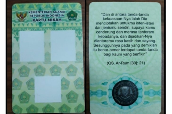 Kemenag Bekasi terbitkan kartu nikah