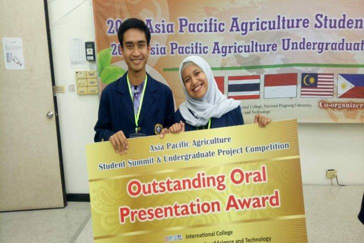 Mahasiswa IPB sabet penghargaan Outstanding Oral Presentation di Taiwan