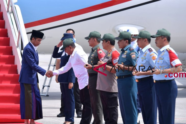 President arrives in N Sumatra on working visit