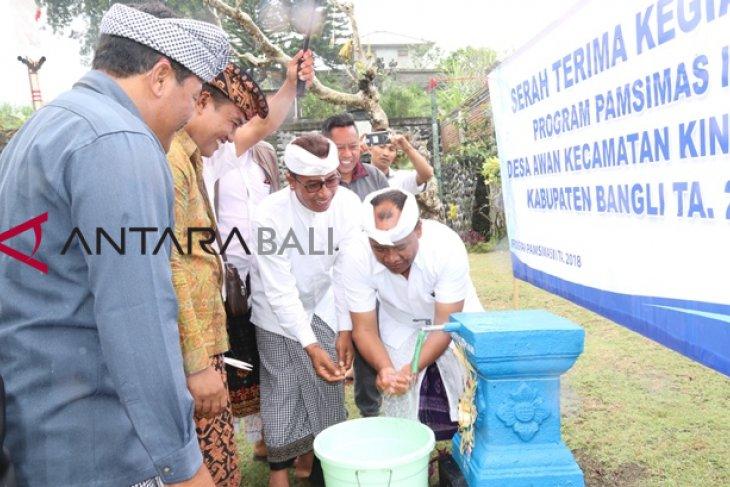 Bupati Bangli resmikan sanitasi air bersih di Desa Awan