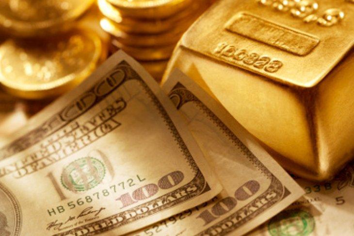 Harga emas naik didukung pelemahan dolar