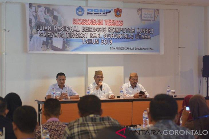 Diknas Gorontalo Utara Deteksi Titik Rawan Jaringan Internet Melalui Simulasi UNBK