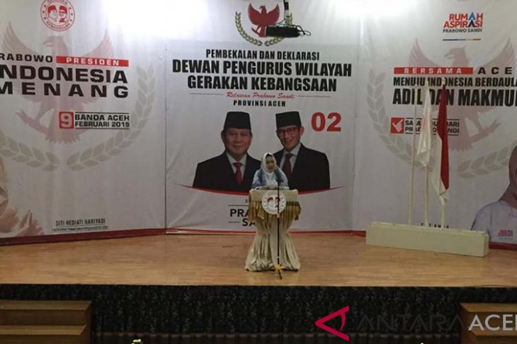 Titiek minta tim pemenangan sosialisai visi misi Prabowo-Sandi