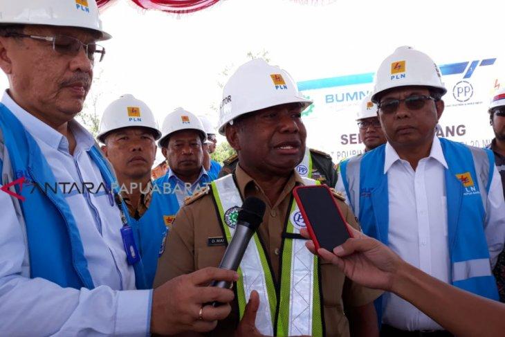 Gubernur : 86 persen wilayah Papua Barat terang