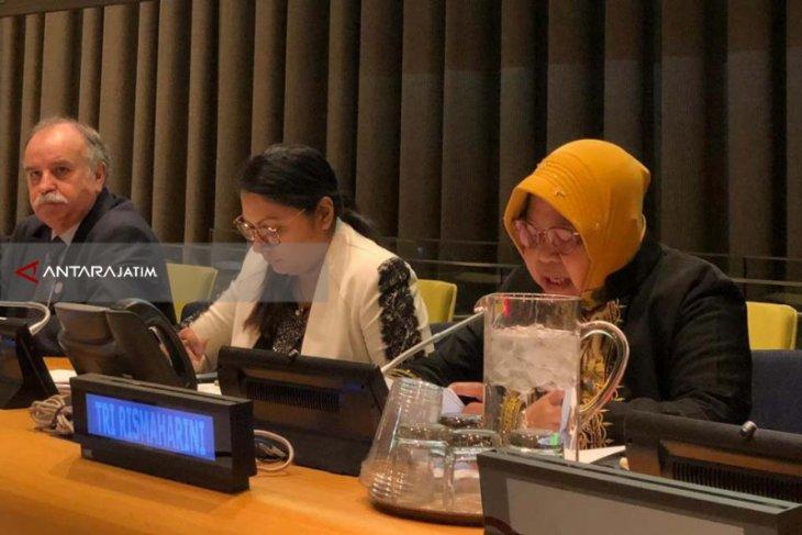 Wali Kota Risma Sampaikan Materi Ketahanan Pangan di Markas PBB