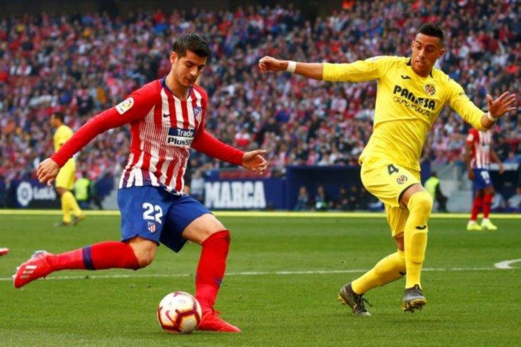 Morata cetak gol pertama, Atletico bungkam Villareal 2-0