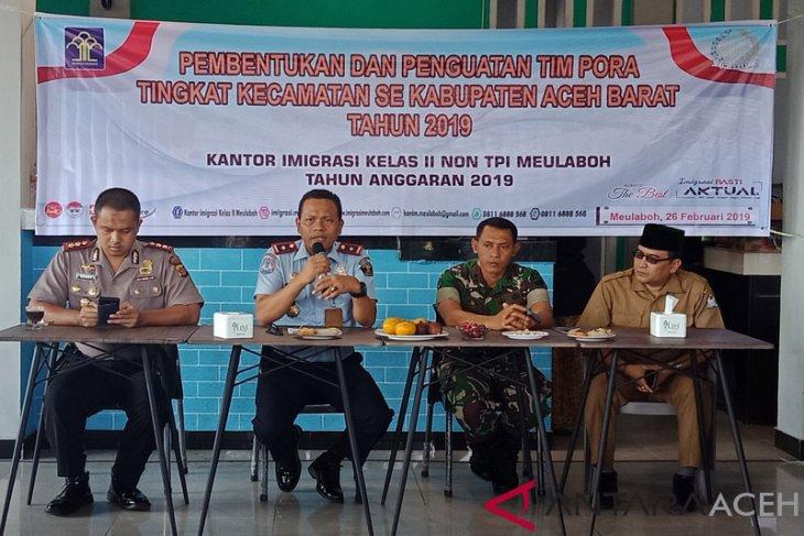 Imigrasi Meulaboh bentuk tim pengawasan orang asing kecamatan