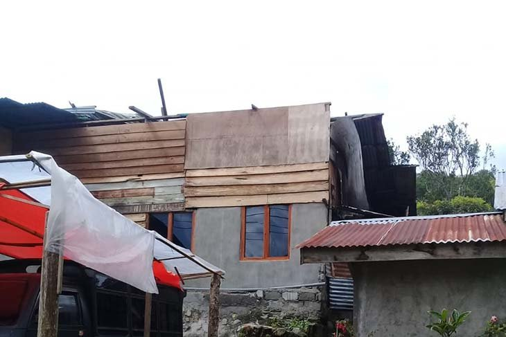 Puting beliung terbangkan atap rumah warga di Aceh Tengah