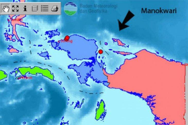 Gempa bumi 5,3 SR guncang Manokwari-Papua Barat