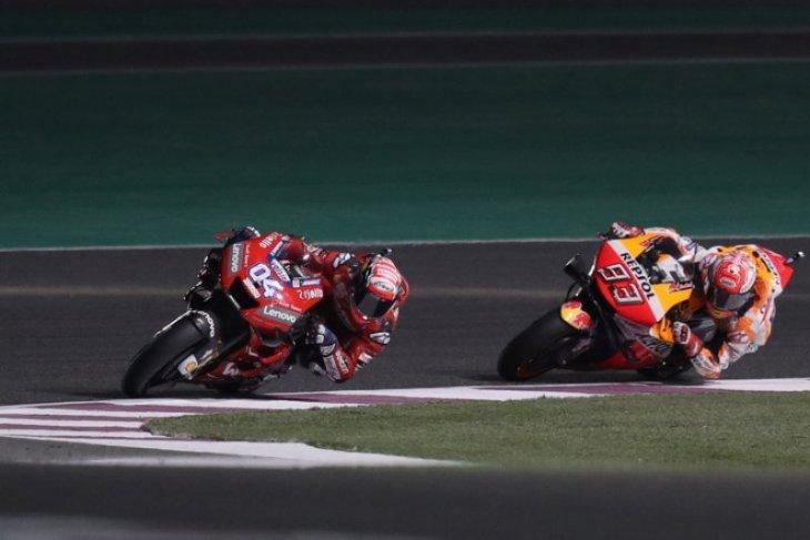 Dovizioso ulangi duel sengit dengan Marquez di Sirkuit Losail