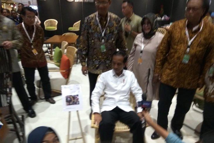 Presiden apresiasi desain furnitur Indonesia semakin bagus
