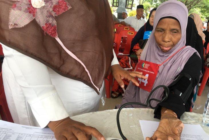 Dinkes Nagan Raya ukur kebugaran calon jamaah haji