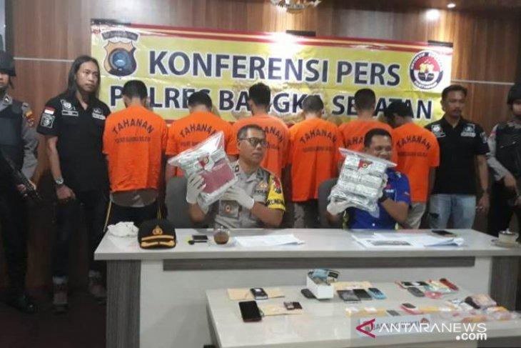 Polres Bangka Selatan tangkap enam orang pelaku narkoba