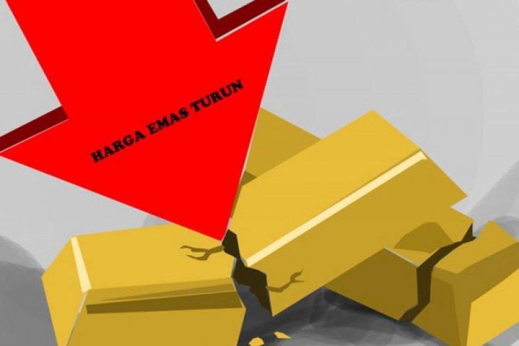 Harga emas kembali turun, tertekan penguatan dolar