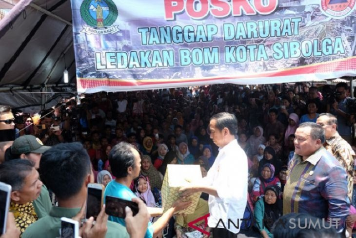 Tahap awal Presiden bantu Rp1,4 miliar untuk perbaikan rumah korban bom Sibolga