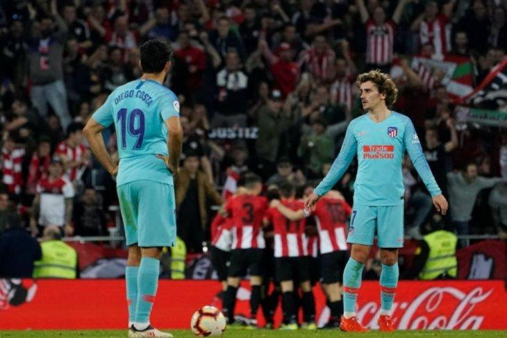 Kalah 0-2 dari Bilbao, peluang juara liga Atletico Madrid meredup