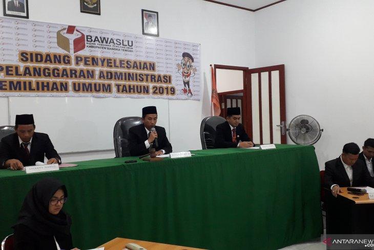 Bawaslu Bangka Tengah gelar sidang pelanggaran administrasi Pemilu (Video)