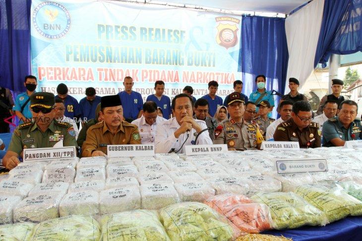 Polsek Barat amankan 18,7 kilogram sabu dari pemuda asal Kalsel