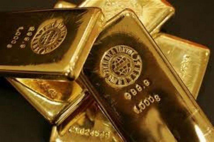 Harga emas perpanjang kenaikan karena ekuitas AS turun tajam