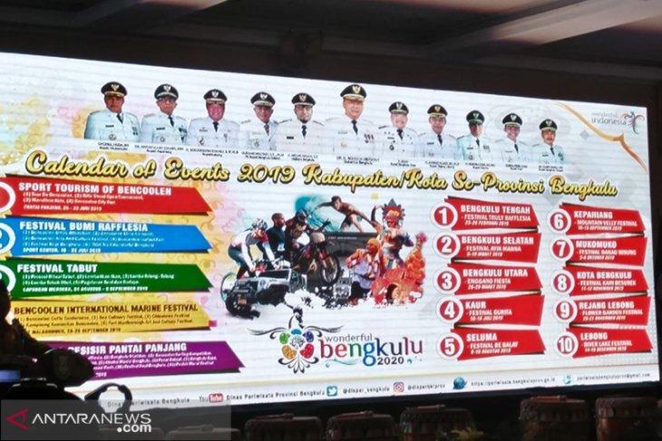 Bengkulu rilis 15 kegiatan wisata 2019