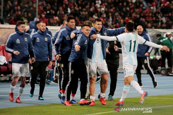 Tanpa Messi, Argentina menang tipis atas Maroko