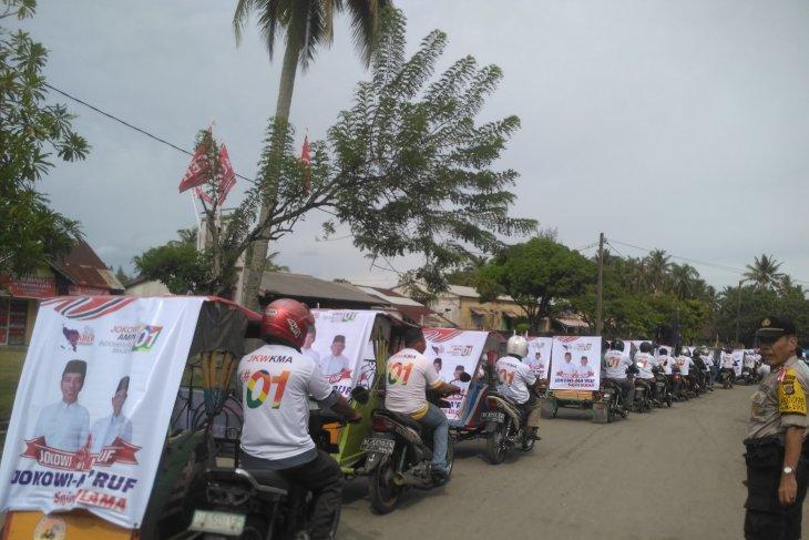 Pengemudi becak Aceh Barat deklarasi dukung Jokowi - Ma'ruf